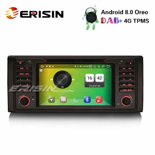Erisin ES7339B 7 inch 8-Core Android 8.0 Car Stereo GPS DAB+DVR BT CD OBDII for BMW 5 Series E39 E53 X5 M5
