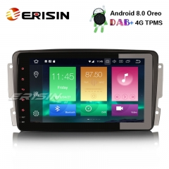 "Erisin ES7489C 8"" Android 8.0 Car Stereo GPS DAB+ 4G Radio for Mercedes Benz W203 W209 Vito Viano"