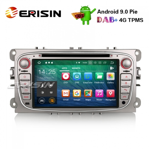 "Erisin ES4809FS 7"" Android 9.0 Car Stereo DAB+ GPS DVR DTV 4G CD BT for Ford Mondeo Focus S/C-Max Galaxy"