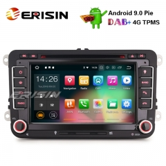 "Erisin ES4848V 7"" DAB+ Android 9.0 Car Stereo GPS DTV 4G Wifi for VW Golf Passat Jetta Eos Tiguan Polo Seat"