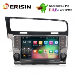 "Erisin ES4811G 9"" Android 9.0 Autoradio GPS TPMS OPS DAB+ DTV Bluetooth Wifi for VW Golf VII/7"
