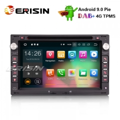 "Erisin ES4886V 7"" DAB+ Android 9.0 Car Radio Stereo for VW Golf Passat Polo Lupo Seat Peugeot 307"