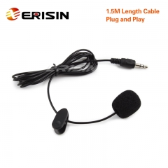 Erisin ES006 3.5mm Mini External Microphone for PC Bluetooth Enable Device Car Stereos Radios