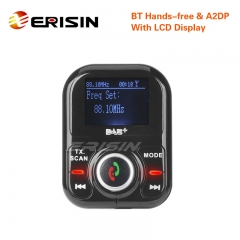 Erisin ES361 Car Charger DAB+ Digital Radio LCD A2DP Bluetooth USB FM RDS Duplex MCX Aerial