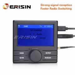 Erisin ES363 DAB+ Digital Radio Box TFT LCD Display A2DP Bluetooth FM Amplified Aerial