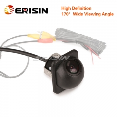 Erisin ES583 Small Straw Hat Mini 170 Viewing Color CCD Car Rear Reversing Camera Guide Line