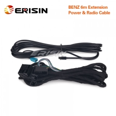 Erisin LMBENZ-6M Extension Radio & Power Cable for Benz E3080E ES3069C ES5080E ES4880E ES7980E