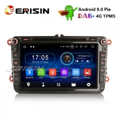 "Erisin ES4985V 8"" Android 9.0 Car Stereo for VW Passat Golf Tiguan Polo T5 Jetta Touran DAB+GPS"