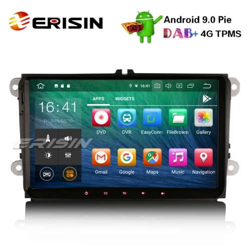 "Erisin ES7918V 9"" Android9.0 Car Stereo DAB+ OPS GPS 4G TPMS For VW Passat Golf Touran Eos Jetta"