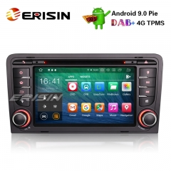 "Erisin ES7947A 7"" 8-Core Android 9.0 Car Stereo GPS OBD DVR DAB+ DTV BT DVD AUDI A3 S3 RS3 RNSE-PU"