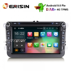 "Erisin ES7915V 8""Android 9.0 Car Stereo GPS DAB+ CD OPS For VW Passat Golf Touran Polo Eos Seat"