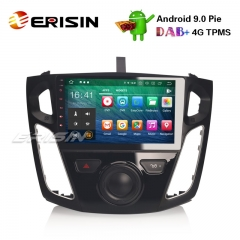 "Erisin ES7995F 9"" Octa-Core Android 9.0 Car Stereo GPS Sat Nav DAB+ DVR WiFi OBD DTV FORD Focus"