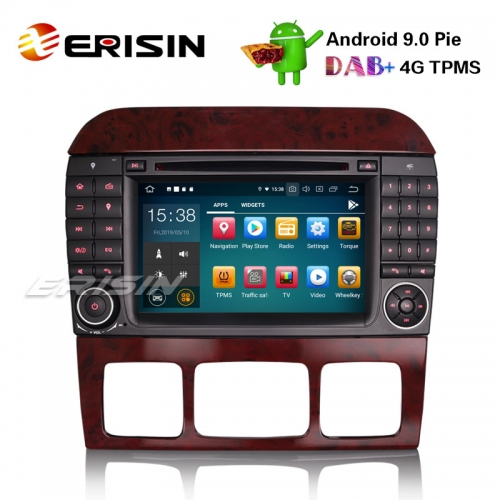 "Erisin ES7982S 7"" Android 9.0 Car Stereo GPS DAB+ CD Mercedes Benz S/CL Class W220 W215 S500 CL55"