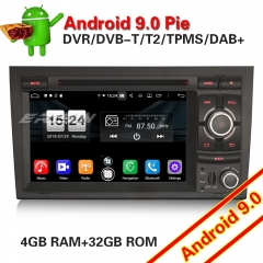 Erisin ES7738A SWC Android 9.0 Car Stereo Audi A4 SEAT EXEO S4 RS4 8E 8F B9 B7 DAB+GPS PX5 DVR DTV Mirror Wifi