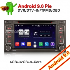 Erisin ES7706T GPS SWC For VW Touareg Android 9.0 PX5 Car Stereo DAB+DVD 4G 8-Core OBD DVR
