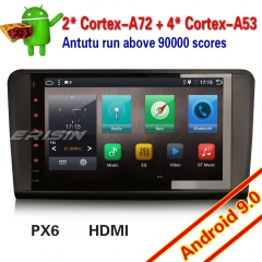 "Erisin ES6286L GPS Navi Android 9.0 6-Core Car Stereo Mercedes Benz ML GL Class W164 X164 DAB+4G SWC 9"" DVR DTV OBD Wifi Mirror TPMS HDMI"