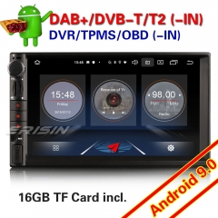 "Erisin ES2649U 7"" GPS Car Radio Android 9.0 Double 2 Din DAB+SatNav DVR Bluetooth 4G OBD 3-UI Sat Navi TPMS DVR Wifi CAM Mirror"