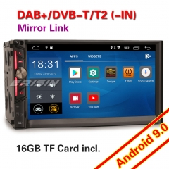 Erisin ES2641U Car Stereo Android 9.0 Double 2 Din DAB+SatNav CAM DVR Bluetooth 4G OBD USB SD TPMS DVR CAM CarPlay Wifi