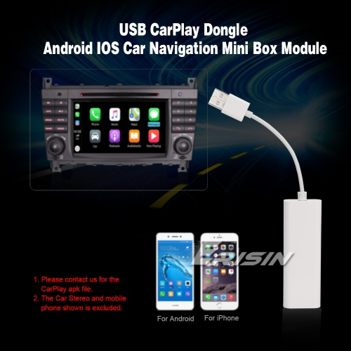 Erisin ES222 CarPlay Dongle USB For Android Car Stereo DVD SatNav Box Mirror Bluetooth For iPhone IOS Android Mobile Phone