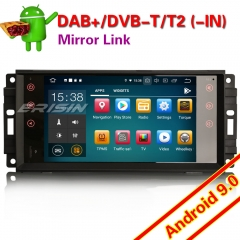 "Erisin ES7976J Android 9.0 Jeep Chrysler Dodge Car Stereo Bluetooth DAB+ DSP CarPlay 4G TPMS DVR 7"" Navi DVR TPMS DVR OBDII Mirror Link Bluetooth Spli"
