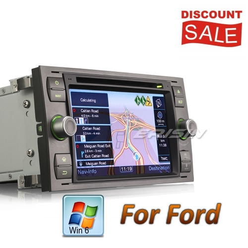 Erisin Car DVD Player Ford C-Max S-Max Mondeo Kuga Focus Fiesta Fusion ES7166F 7in Stereo Sat Navi GPS DAB+ DVR CD BT DTV USB SD RDS