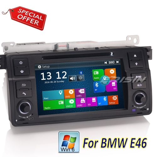 "Erisin Car DVD Player BMW E46 3 Series Rover 75 MG ZT ES7162B 7"" Stereo GPS Sat Navi DVR DTV-IN Canbus SWC CD BT USB RDS"