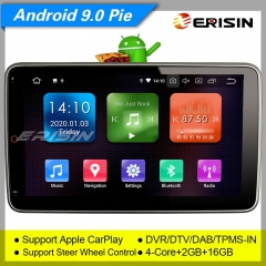 "Erisin ES1123U SWC CarPlay Android 9.0 Double 2 Din Anti-theft Car Stereo Sat Navi DAB+ IPS Screen 10.1"" SWC TPMS DVR OBDII Mirror Link Bluetooth"