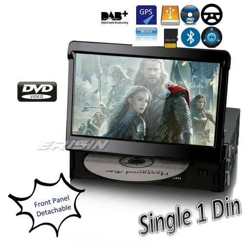 Erisin Car DVD Player 1 Din Single Din ES6590KD 7in Detachable Anti-theft Stereo DAB+ CD USB SD GPS Bluetooth RDS DVD DTV SWC