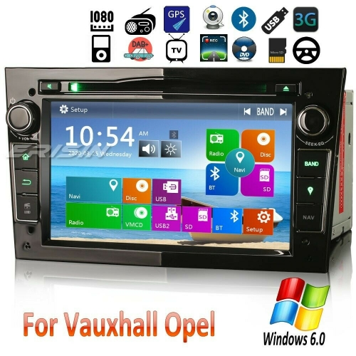 Erisin Car DVD Player Vauxhall Opel Holden Zafira Vectra Astra Corsa Signum ES7260PB 7in DAB+ Stereo Sat Navi GPS CD Bluetooth USB TNT USB SD DVR