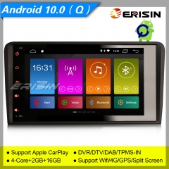 Erisin ES3027A Android 10.0 Car Stereo GPS AUDI A3 S3 RS3 RNSE-PU DAB+CarPlay Sat Navi DVR CAM TPMS Wifi 4G Mirror Link Split Screen