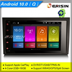 Erisin ES3028A Android 10.0 Car Stereo GPS Audi A4 SEAT EXEO S4 RS4 8E 8F B9 B7 DAB+CarPlay Sat Navi DVR CAM TPMS Wifi 4G Mirror Link Split Screen