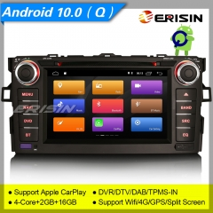 "Erisin ES3017A For TOYOTA AURIS COROLLA ALTIS GPS Car Stereo DVD Android 10.0  7"" DAB+ 4G CarPlay TPMS DVR 7"" DSP Navi DVR TPMS OBDII Mirror Link Spli"