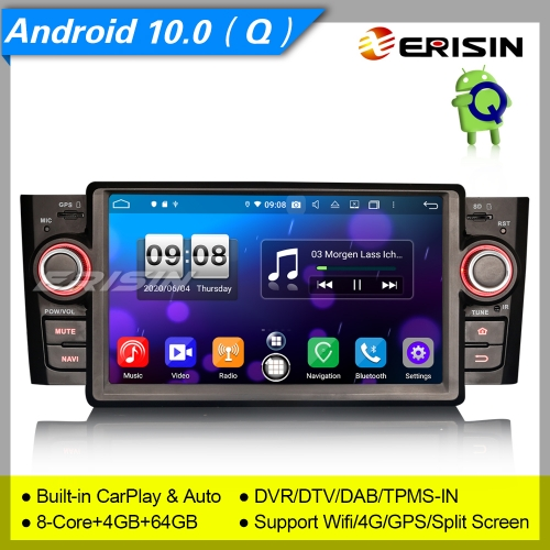 "PX5 Fiat Punto Linea Android 10.0 8-Core Car Stereo Radio DAB+CAM CarPlay DSP 7"" Erisin ES8723L"