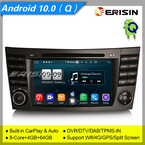"DSP PX5 DAB+ Android 10.0 Car DVD Player Mercedes Benz CLS G E W219 W463 W211 7"" Erisin ES8710E"