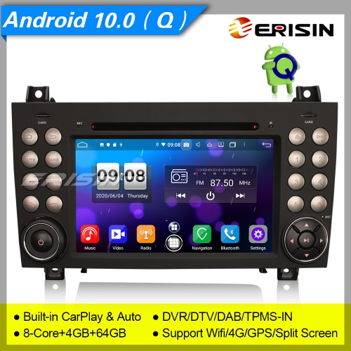 "4+64G Android 10 Car Stereo Car DVD Player Mercedes Benz SLK Class R171 W171 DSP DAB+DVR Navi 7"" Erisin ES8740S"
