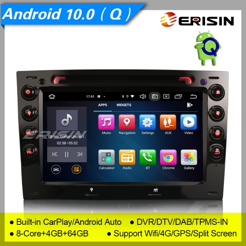 8 Core 4+64GB DSP Android 10.0 Renault Megane Car DVD Player CarPlay Car Stereo DAB+GPS PX5 Sat Navi DVR Erisin ES8113M