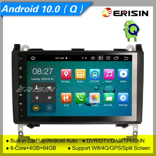 "4+64G PX5 8 Core CarPlay Android 10.0 Car Stereo Mercedes A/B Class W169 W245 Vito Viano VW Crafter DAB+ Radio DSP Sat Navi DVR OBD TPMS GPS BT9"" Eris"