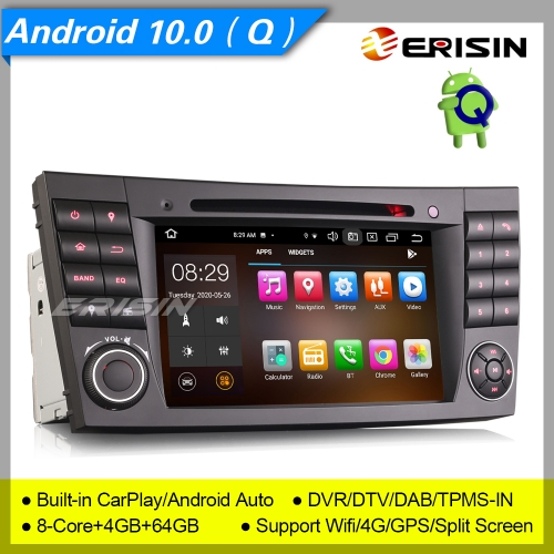 "PX5 8 Core 4+64G Android 10.0 Car DVD Player Mercedes Benz W219 W463 W211 CLS G E Class DAB+ Radio CarPlay Car Stereo Sat Navi DVR TPMS BT 7"" Erisin E"