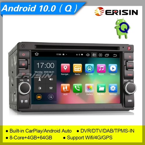 4+64G 8 Core PX5 DSP CarPlay Android 10 2 Din For Nissan Car DVD Player DAB+ Radio Car Stereo DVR Sat Navi GPS TPMS Erisin ES8136U