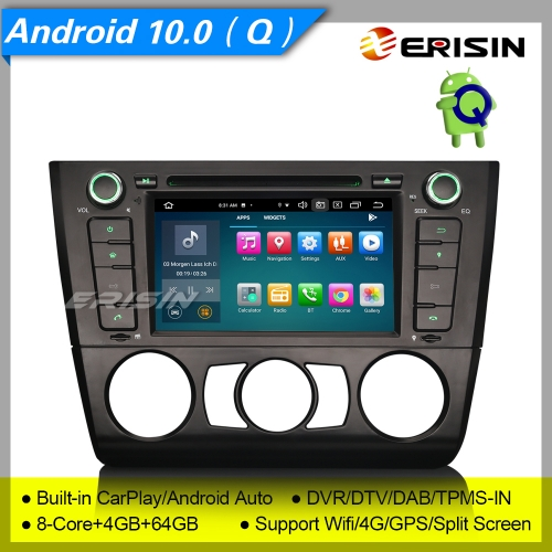 "8 Core 4+64GB PX5 DSP Android 10 Car DVD Player BMW E81 E82 E88 1er GPS DAB+ Radio CarPlay TPMS Car Stereo Sat Navi DVR BT CAM 7"" Erisin ES8140B"