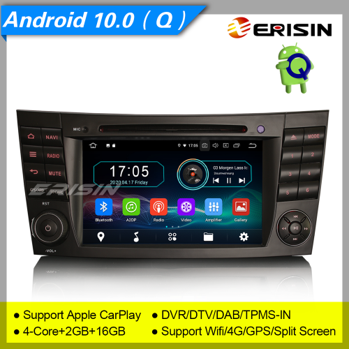 "2+16GB PX30 Android 10.0 Mercedes Benz Car DVD Player CLS G E W219 W463 W211 Car Stereo DAB+ Radio Sat Navi GPS DVR TPMS OBD BT 4G USB 7"" Erisin ES598"
