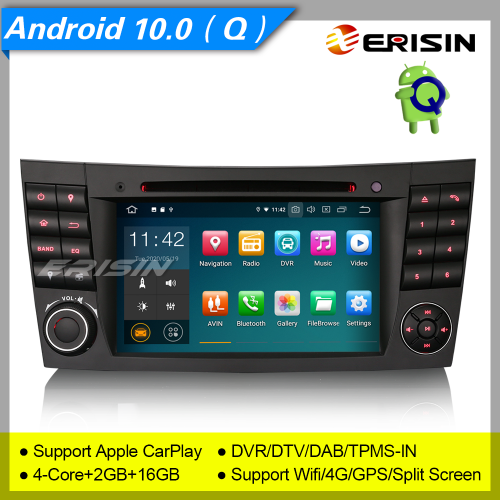 "2+16GB PX30 Android 10.0 Car DVD Player Mercedes Benz CLS Class G Class E Class W219 W463 W211 DAB+ Car Stereo Sat Navi DVR DVR GPS TPMS BT 7"" Erisin"