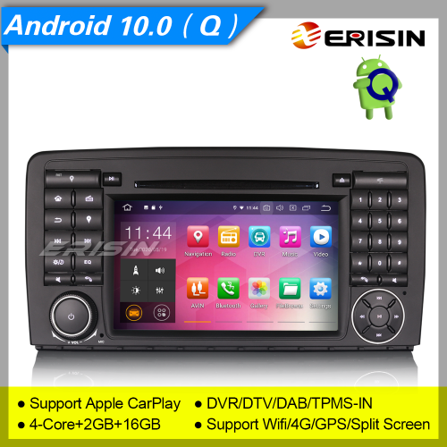 "2+16GB PX30 Android 10.0 Mercedes Benz R Class W251 Car DVD Player GPS BT DAB+ Radio Car Stereo Sat Navi DVR CarPlay TPMS BT 4T 7"" Erisin ES5181R"