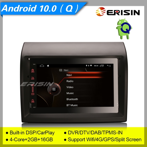 "2+16GB 4 Core Android 10.0 Fiat Ducato Citroen Jumper Peugeot Boxer Car Stereo DAB+ Radio Sat Navi CarPlay DVR TPMS BT SWC 7"" Erisin ES4274F"