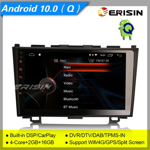 "2+16GB 4 Core CarPlay Android 10.0 HONDA CR-V 2006-2011 Car Stereo DAB+ Radio Sat Navi DVR DSP TPMS OBD SWC BT 9"" Erisin ES4299C"