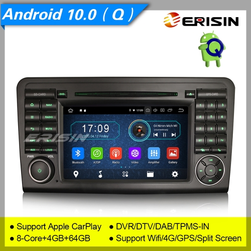 "4+64GB PX5 Android 10.0 Car DVD Player Mercedes Benz W164 X164 ML Class GL Class DAB+Radio Car Stereo GPS Sat Navi DTV TPMS BT 4G 7"" Erisin ES6961L"