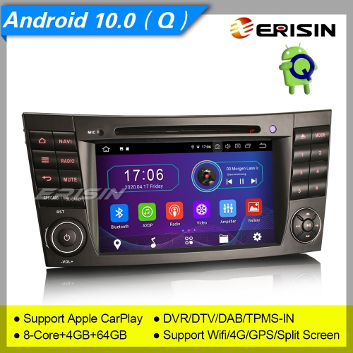 "4+64GB PX5 Android 10.0 Mercedes Benz Car DVD Player CLS G E W219 W463 W211 Car Stereo DAB+ Radio Sat Navi GPS DVR TPMS OBD BT USB 7"" Erisin ES6980E"