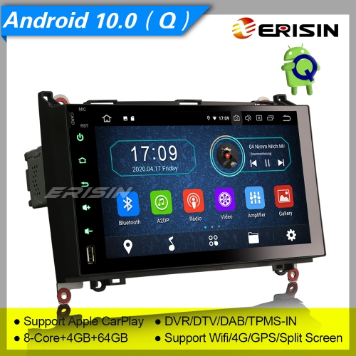 "4+64GB PX5 CarPlay Android 10.0 Car Stereo Mercedes Benz W639 Viano W169 W245 A B Class VW Crafter DAB+ Radio Sat Navi GPS DVR TPMS 9"" Erisin ES6992B"