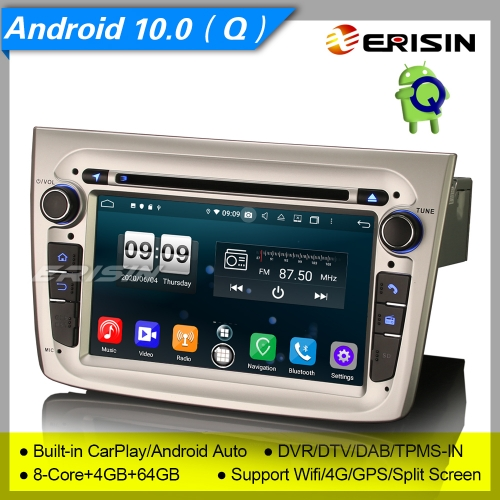 "4+64G 8 Core CarPlay DSP PX5 GPS Android 10.0 Alfa Romeo Mito Car DVD Player DAB+ Radio Sat Navi Bluetooth GPS SWC DTV 7"" Erisn ES8730SM"