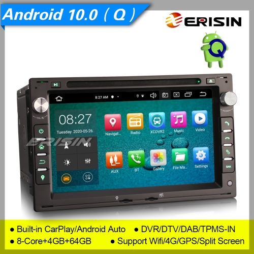 "4+64G 8 Core PX5 Android 10.0 Car DVD For VW Passat Peugoet Golf 4 T4 MULTIVAN Seat Skoda Ford DAB+ Radio Stereo CarPlay GPS 7"" Erisin ES8186V"